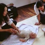 母子の絆、もっと深まる『ベビーマッサージ』:写真